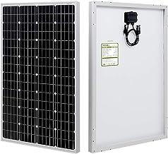 HQST 100 Watt 12 Volt Monocrystalline Solar Panel with Solar Connectors High Efficiency Module PV Power for Battery Chargi...