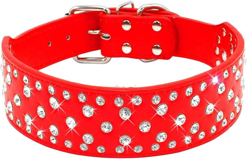 Rhinestone Houston Mall Pet Dog Collars Sparkly P Crystal Purchase Diamonds Decorated