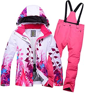 GS SNOWING Boys Girls Snow Ski Jacket and Pants 2-Piece Snowsuit
