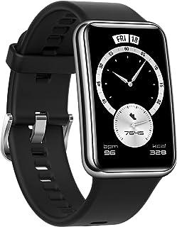 【Amazon.co.jp限定】HUAWEI Watch FIT Elegant スマートウォッチ 1.64インチAMOLEDディスプレイ 10日間長時間バッテリー 血中酸素常時測定 ステンレススチール製フレーム 心拍数モニタリング GPS内蔵...