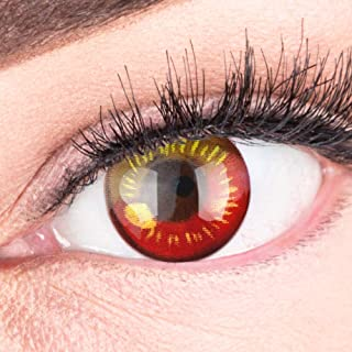 154ec33ae3 Lentes de contacto de colores Circle Lenses Heroes Of Cosplay fuerte  opacidad sin graduación con estuche