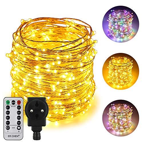 5M 50 LEDs Lichterkette Knopf Cell Powered Silber Kupferdraht Mini Fairy  AQI