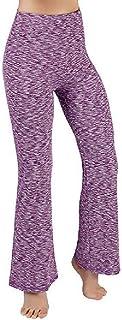 Mogogo Womens Printing Highwaist Straight Yoga Trousers Casual Pants