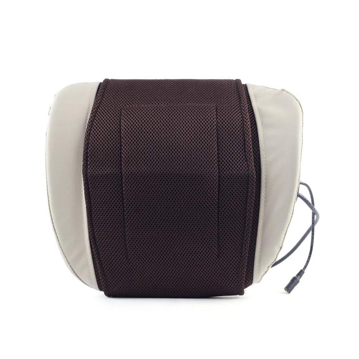 歌翻訳する療法ウエストマッサージャー理学療法器具Hotホット圧縮腰椎ディスククッションバック電気トラクター