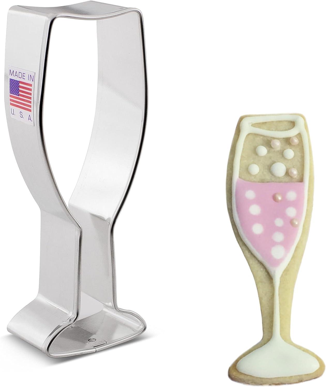 Ann Clark Cookie Cutters Champagne Glass Cookie Cutter, 4.25