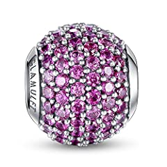 Compatible with Pandora, Chamilia, Trollbeads, Other Charms Beads bracelet METAL MATERIAL: 100% Genuine 925 Sterling Silver Guaranteed GEM MATERIAL: AAAAA High Quality Cubic Zirconia FBA - Free Shipping or Expedited Shipping Available 365-DAYS UNCOND...