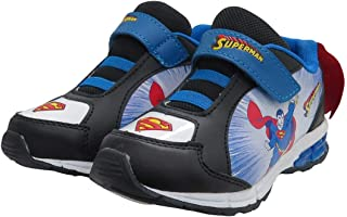 DC Comics Kids' Superman Toddler Boys' Athletic Sneaker with Cape Cross Trainer