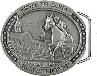 Kentucky Derby Churchill Downs Horse & Jockey Pewter Belt Buckle