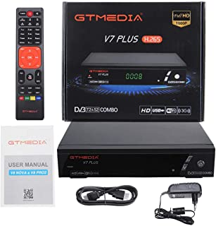 GTMEDIA V7 Plus DVB-S2 Satellite DVB-T2 Terrestrial TV Combo Receiver Support H.265 Spanish Italian