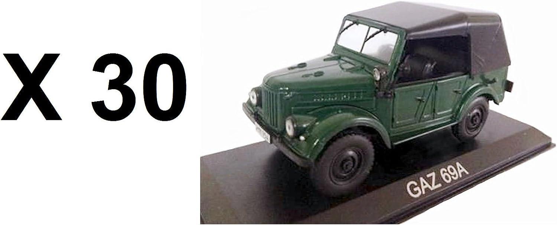 Unbekannt Set von 30 Autos GAZ 69A 1 43 IXO IST Auto B29