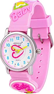 3D Kids Cartoon Butterfly Dinosaur Watches Healthy Material Rubber Silicone Band Children Watches