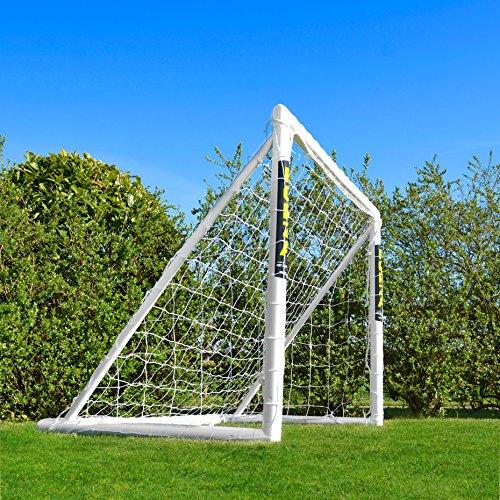 FORZA Football Goal [6ft x 4ft] | Ultimate Kids Garden Goals – 100% Weatherproof PVC | Essential Locking System Design | Optional Target Sheet, Ball & Bag Available