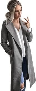 New Womens Long Coat Lapel Parka Jacket Cardigan Overcoat Outwear