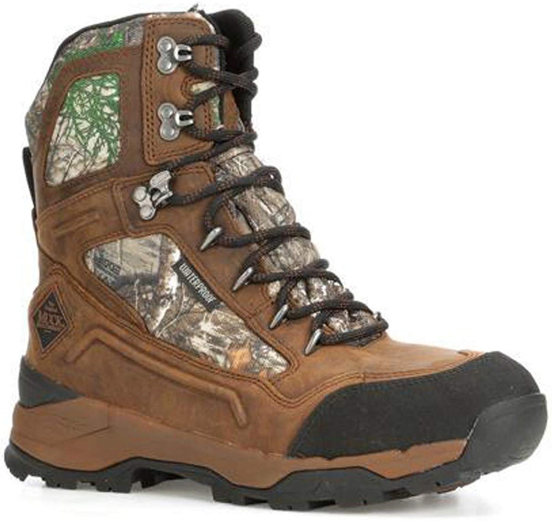 Muck Mens Summit Lace 8  Boots Black Chocolate Brown Realtree Edge Mini