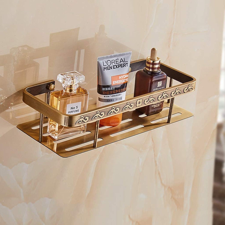 Rack- European Bathroom Shelf, Retro Corner Stand, Triangle Basket Rack, Kitchen Storage Rack (color   Bronze, Size   Single Layer)