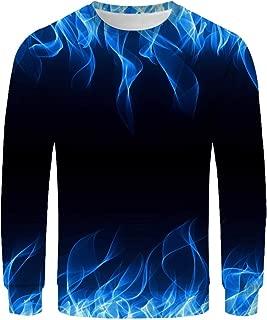 Gradient Pullover Hoodies for Men, Mens Fall Tie Dye Sweatshirts Long Sleeve Crewneck Gradient Pullover Tops