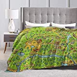 Baulerd Stardew Valley Map Ultra-Soft Micro Fleece Blanket Couch 60'' x50