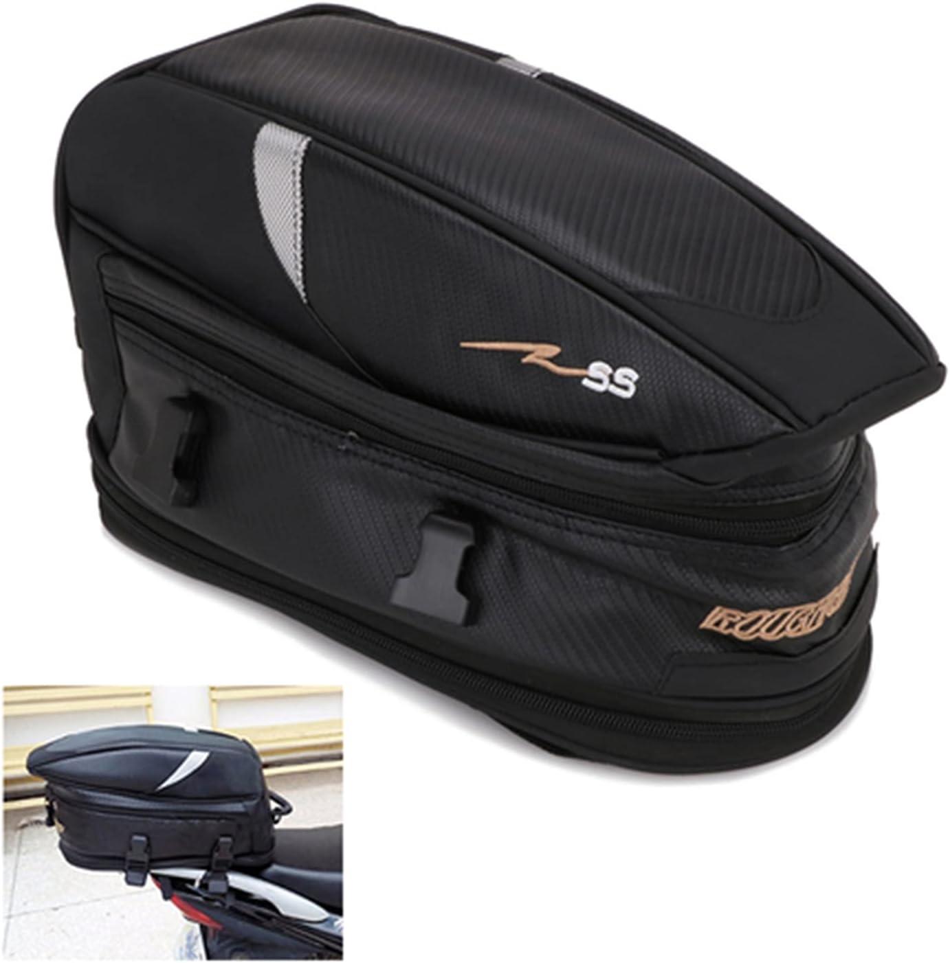 Bolsa de cola de motocicleta, bolsa de asiento de moto impermeable bolsa de sillín multifuncional Oxford Bike Dirt Bag Sport Backpack