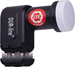 DUR-line +Ultra Quad LNB - 4 Teilnehmer schwarz - mit LTE-Filter [ Test SEHR GUT ] 4-Fach, digital, Full HD, 4K, 3D, Sieger - Premium-Qualität
