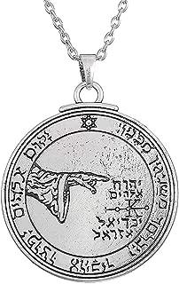 Dawapara Vintage Pendentif Talisman Amulette Pentacle Sceau du Venus du Roi Salomon Collier Bijoux pour Homme ou Femme