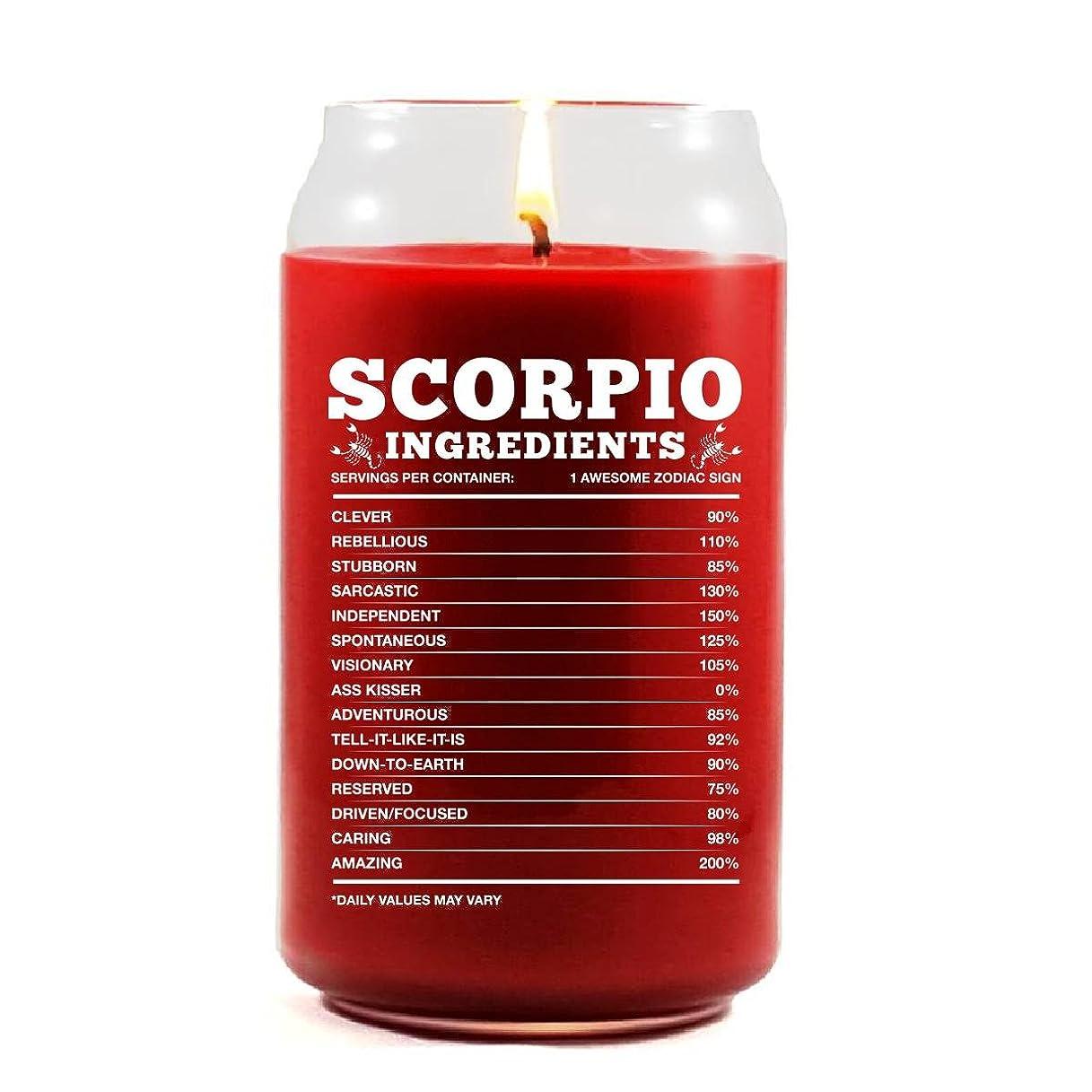 測定可能貴重な怠けたScorpio原料Scorpio Zodiac Star Signギフト?–?Scented candle 16 Oz レッド