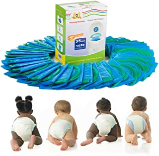 Diaper Refill Bags 35 Packs One Box Baby Bathing with Toss and Hassle Free Blue Bags Green Ring, 1050 Count Disposal Snap Seal Diaper Pail Liners, Fully Compatible with Arm&Hammer Disposal (35 Bags)