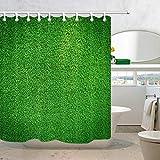 Schokoladen-Duschvorhang Gepunktete Linien Vintage-Druck für Badezimmer