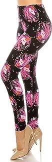 ShyCloset Printed Design Fashion Leggings - Women Maternity Casual Buttery Soft Stretch Pants Regular One Plus Size