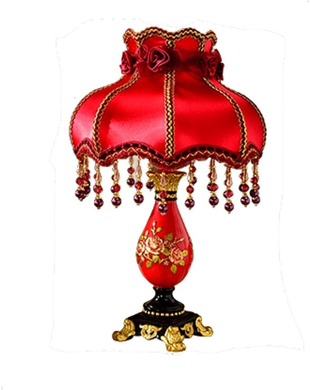 Europäische rote rote rote Tischlampe Schlafzimmer Nachttisch Lampen Hochzeit Ehe Zimmer Lichter B06XJQ9NLZ | Kaufen  88b10c