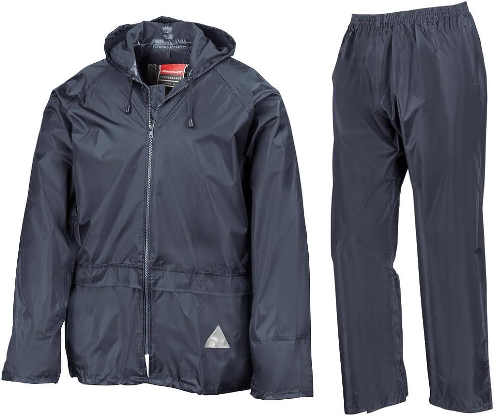 Result Heavyweight waterproof jacket/trouser suit Navy L