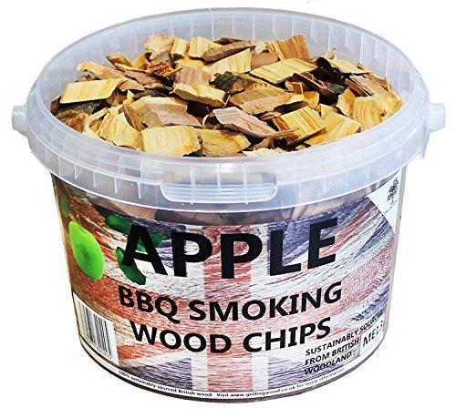 3 Litre BBQ Smoking British Wood Chips (Apple)