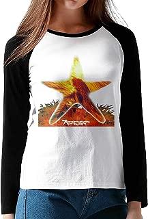 HAIGUANGZ New Aphex Twin Baseball T Shirt O-Neck for Womens Black