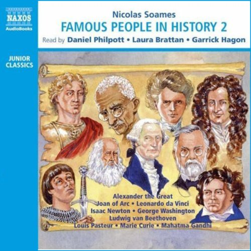 Famous People in History II (Unabridged)                   By:                                                                                                                                 Nicolas Soames                               Narrated by:                                                                                                                                 Daniel Philpott,                                                                                        Laura Brattan,                                                                                        Garrick Hagon                      Length: 2 hrs and 37 mins     1 rating     Overall 4.0
