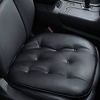 Big Ant Car Seat Pad Leather Seat Pad Soft Car Seat Cushion Comfort Removable Seat Protector for Car Office Home Use Four Seasons General 1pc(Black)