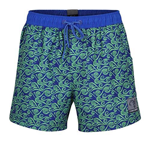 Ceceba Badeshorts Boardshorts Strandshorts Shorts Badehose blau grün M-8XL Übergröße, Farbe:blau, Grösse:7XL - 16-66