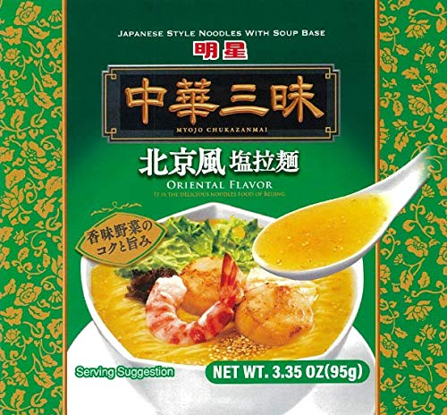 Myojo Chukazanmai Instant Ramen Oriental Salt Flavor, 3.55-Ounce (Pack of 6) (Packaging may vary)