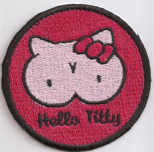 Hello Titty Hello Kitty 60s Rockerbilly Psychobilly Kutte Aufnäher Patch
