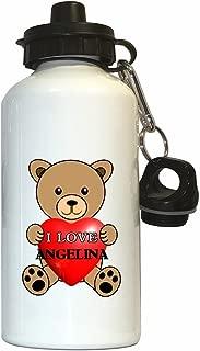 I Love Angelina Water Bottle White