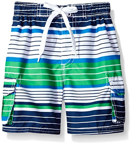 Kanu Surf Boys#039 Big YOLO Quick Dry UPF 50 Beach Swim Trunk Blake Navy/Green 10/12