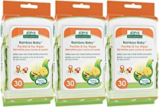 Aleva Naturals Pacifier & Toy Wipes - Pacifier Wipes, Baby Toy Wipes, Bottle Wipes, Extra Strong and Ultra Soft, Value Pac...