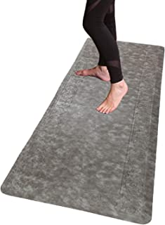 HEBE Extra Long Anti Fatigue Comfort Mats for Kitchen Floor Standing Desk Thick Cushioned Kitchen Floor Mats Runner Waterp...