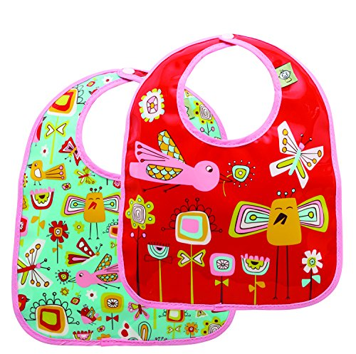 Sugarbooger Mini Bib Gift Set, Birds & Butterflies, 2 Count