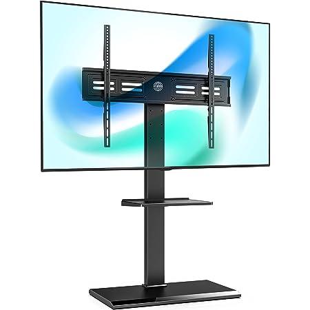 FITUEYES テレビ台 壁寄せテレビスタンド 50-80インチテレビに対応 角度調節可能 高さ調整可能 耐荷重50kg 収納可能 鉄製 TT208001MB