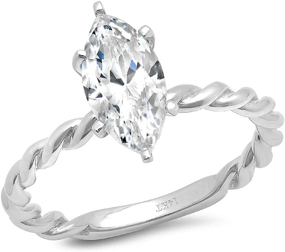 2.1 ct Brilliant Marquise Cut Discount mail order Austin Mall Genuine Si Flawless Clear Stunning