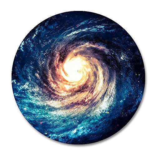 Planet Round Mouse Pad by Smooffly,Andromeda Galaxy and Black Hole Non-Slip Rubber Mousepad Mat