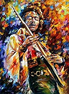 Large Modern Oil Painting On Canvas By Leonid Afremov - Jimi Hendrix
