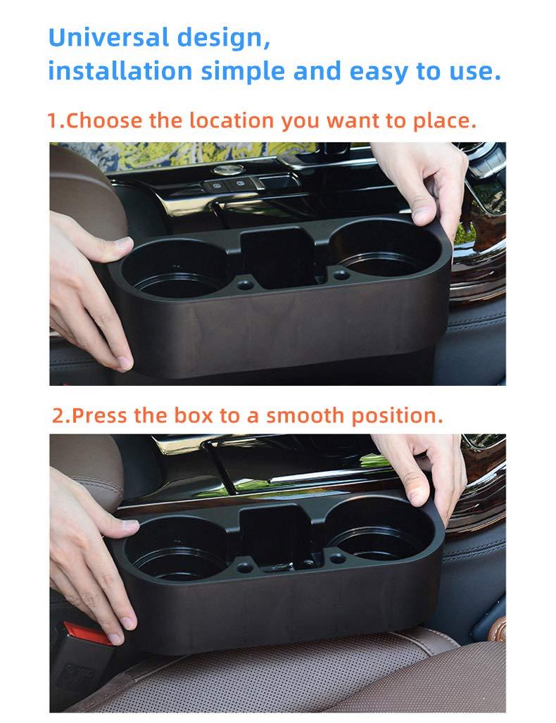 Car Seat Side Drop Caddy Catcher. FineFun Center ConsoleOrganizer,UniversalFlexible Container//Cup Holder Console Container Center Storage Box Pocket Interior Accessories