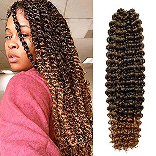 "5 Packs 22"" AU-THEN-TIC Passion Twist Hair Water Wave Crochet Braids Hair for Butterfly locs, Bohemian Goddess locs Synthetic Braiding Hair Extensions, Free Gift (5-PACK, TT27)"