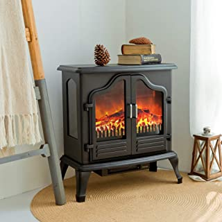 portable electric heaters that look like fireplaces