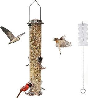 QeeHeng Mangeoire à oiseaux,mangeoire à oiseaux suspendue extérieure,mangeoire à oiseaux dans la cour du jardin du ciel,4 ...